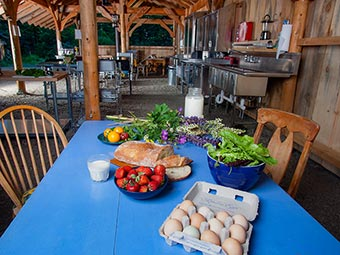 Farm stay outdoor camp kitchen