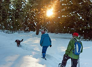 Snowshoeing at Willow-Witt Ranch