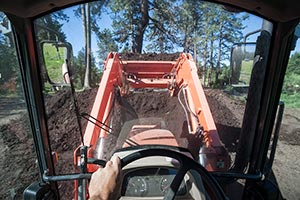 Turning Organic Compost