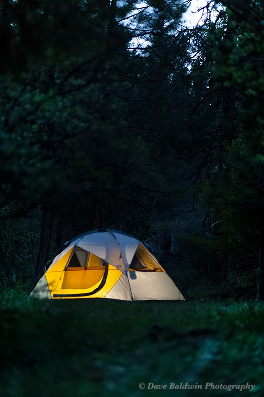 Tent Site at Night