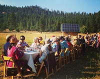 Farm to Table dinner outdoors at Willow-Witt Ranch